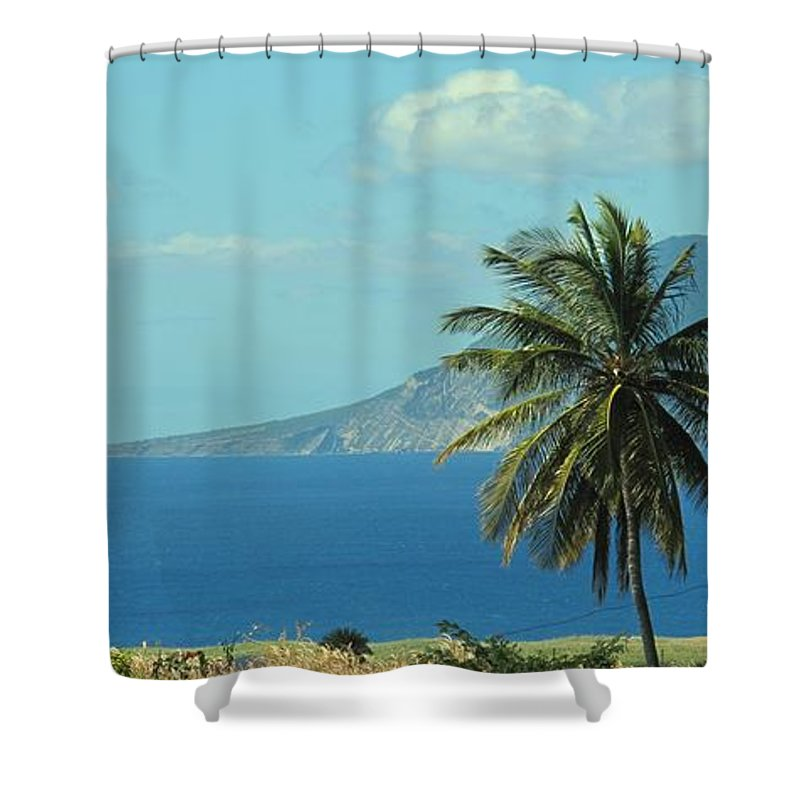 St Eustatius. Statia Shower Curtain featuring the photograph Thecaribbean Island Of St Eustatius by Ian MacDonald