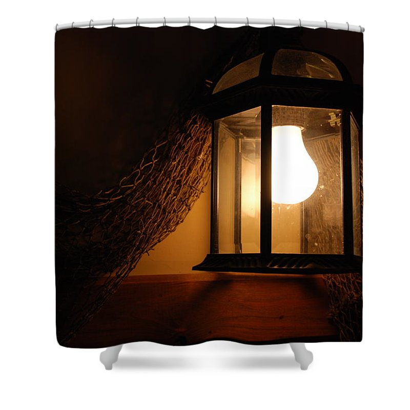 Lantern Shower Curtain featuring the photograph There Is Light In The Dark by Susanne Van Hulst