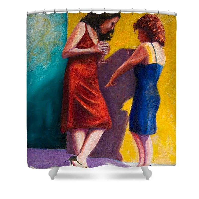 Figurative Shower Curtain featuring the painting There by Shannon Grissom