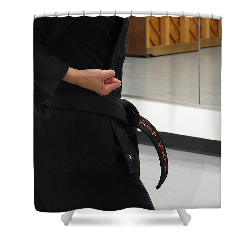Karate Shower Curtain featuring the photograph Theresa by Kelly Mezzapelle