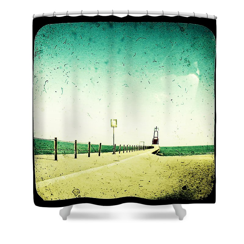 Beach Shower Curtain featuring the photograph These Days Are Gone by Dana DiPasquale