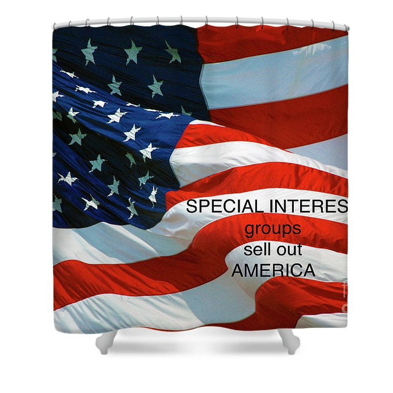 Special Interest Shower Curtain featuring the photograph They Sell Us Out by Paul W Faust - Impressions of Light