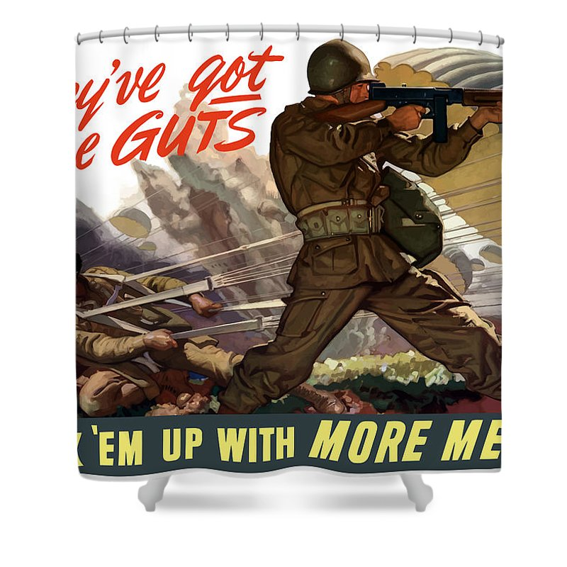 War Effort Shower Curtains