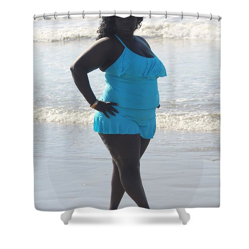 Bbw Shower Curtain featuring the photograph Thick Beach 14 by Christopher White