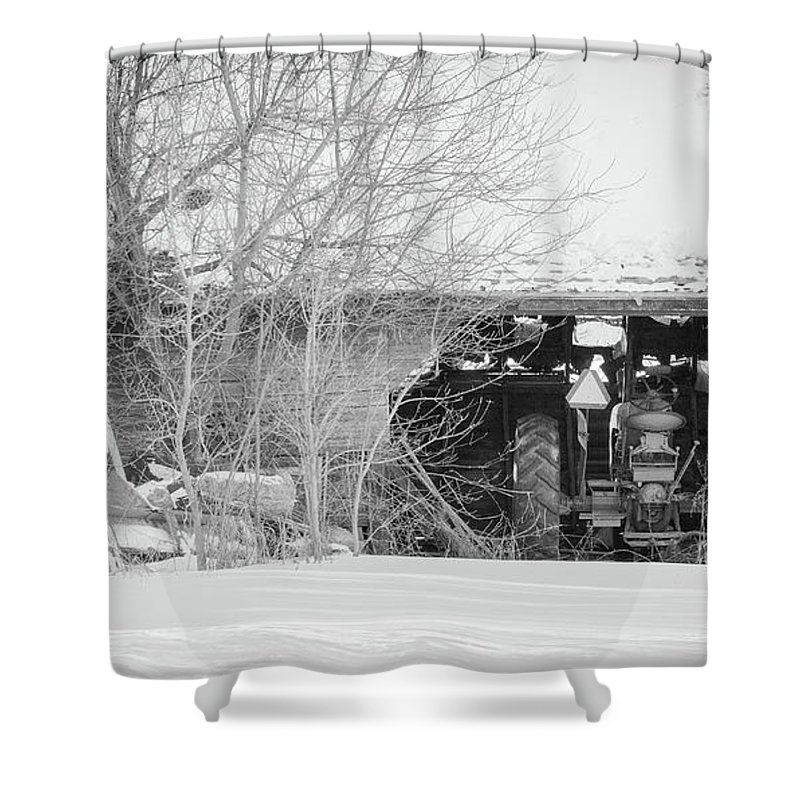 Barn Shower Curtain featuring the photograph Things Left Behind by Brittany Lofgren