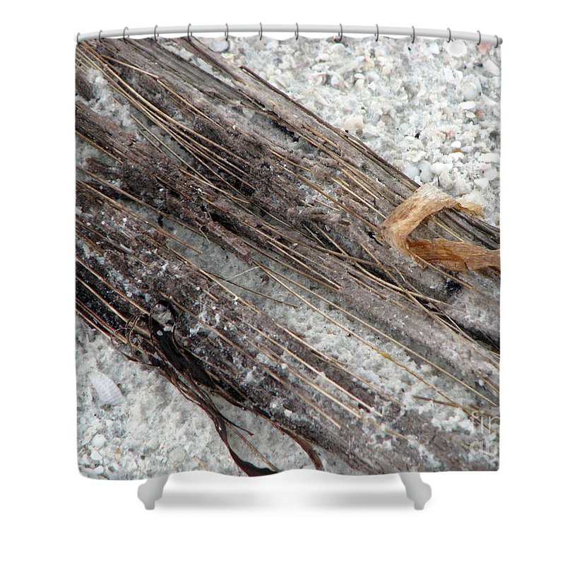 Beaches Shower Curtain featuring the photograph Things On The Beach by Amanda Barcon