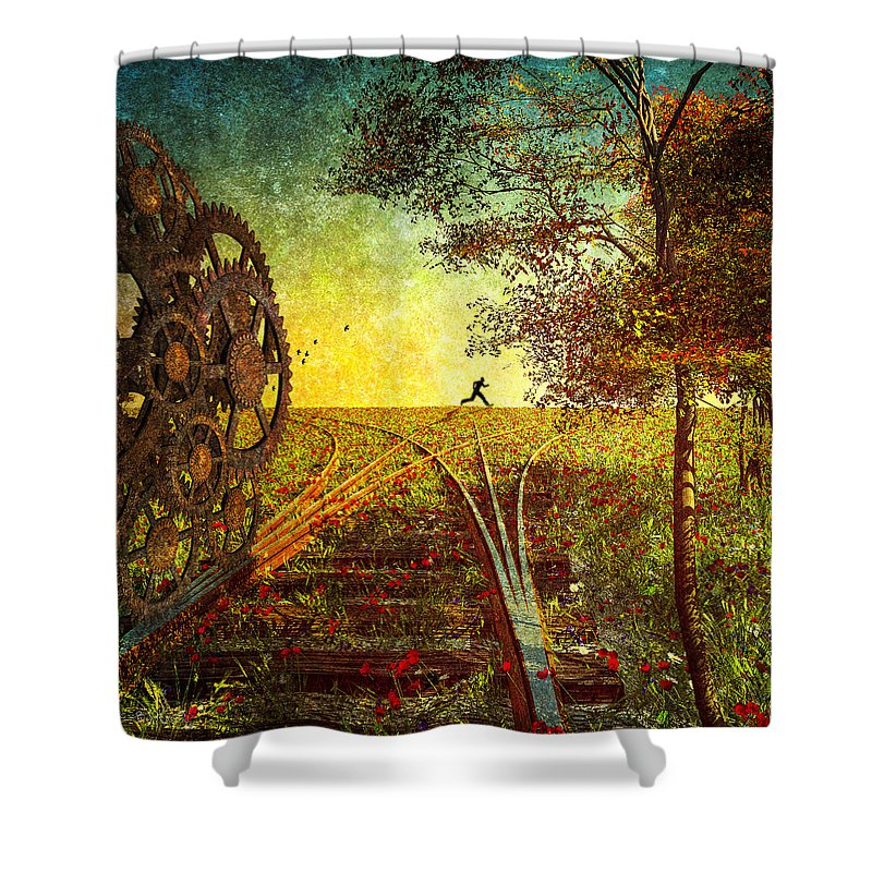 Running Track Shower Curtains