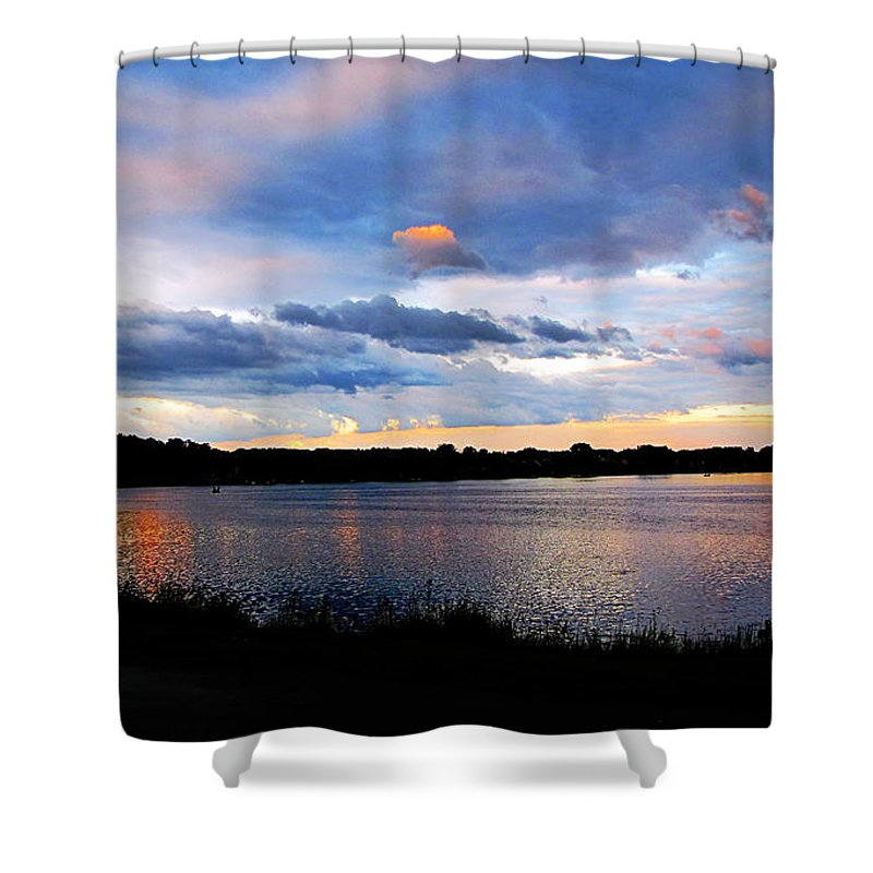 Lake Shower Curtain featuring the photograph Thompson Lake 3 by September Stone