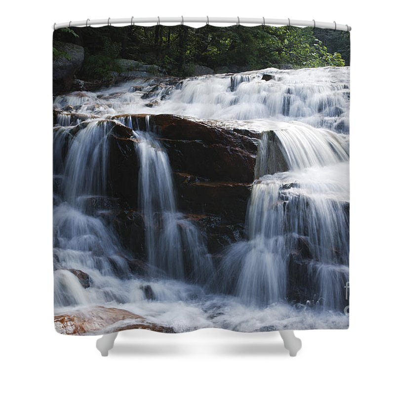 White Mountain National Forest Shower Curtain featuring the photograph Thoreau Falls - White Mountains New Hampshire Usa by Erin Paul Donovan