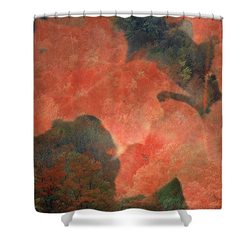 Fall Leaves Shower Curtain featuring the photograph Thornbury by D'Arcy Evans