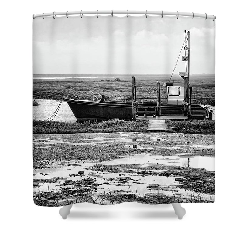 Amazing Shower Curtain featuring the photograph Thornham Harbour, North Norfolk by John Edwards