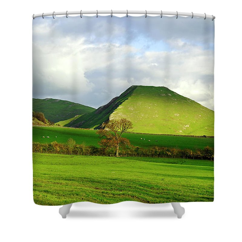 Europe Shower Curtain featuring the photograph Thorpe Cloud From Bunster Hill by Rod Johnson