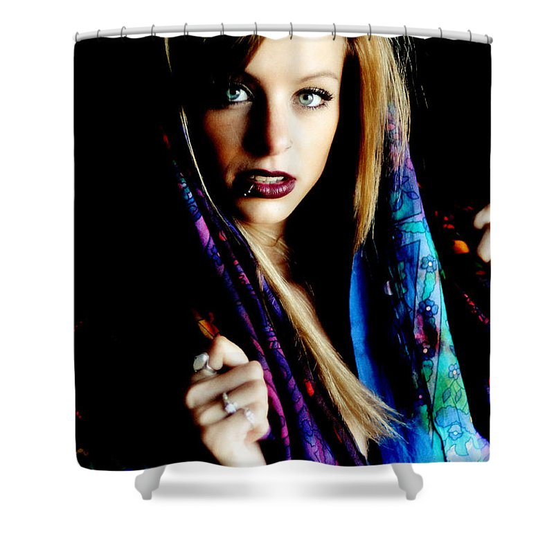 Those Eyes Shower Curtain featuring the photograph Those Eyes by Bill Munster