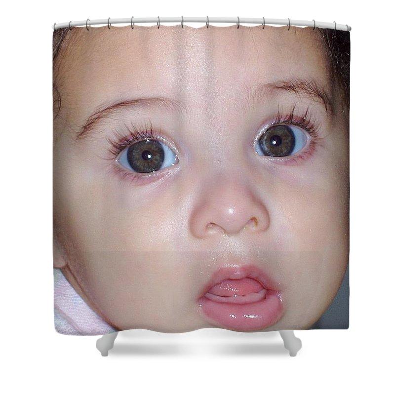 Deborah Crew-johnson Shower Curtain featuring the photograph Those Eyes by Deborah Crew-Johnson