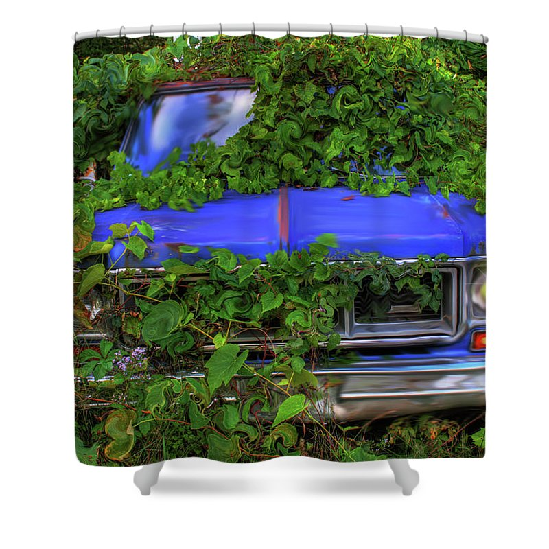 Weeds Shower Curtain featuring the photograph Those Pesky Weeds by Wayne King