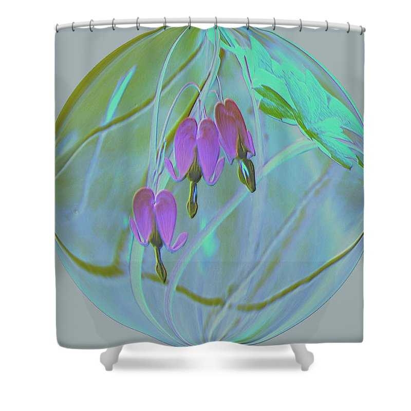 Flowers Shower Curtain featuring the photograph Three Hearts by Jeff Swan