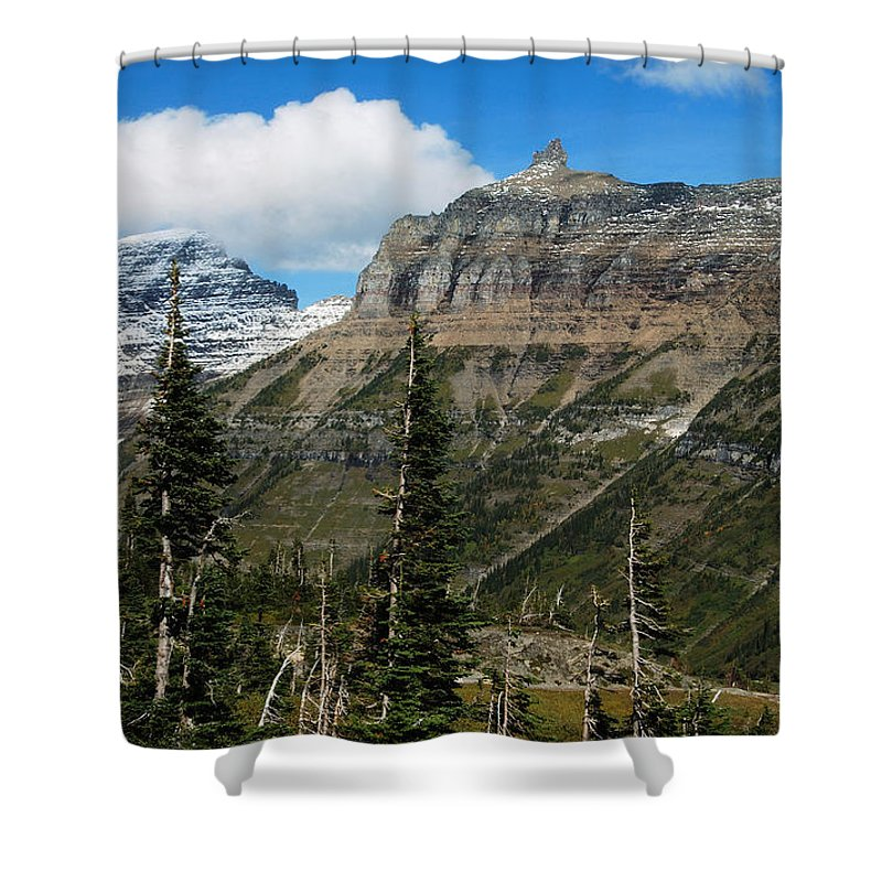 Glacier Shower Curtain featuring the photograph Three Kings by Michael Peychich