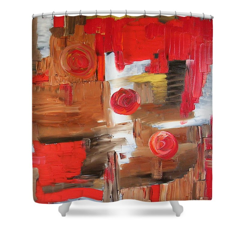 Moon Shower Curtain featuring the painting Three Moons by Dawn Hough Sebaugh