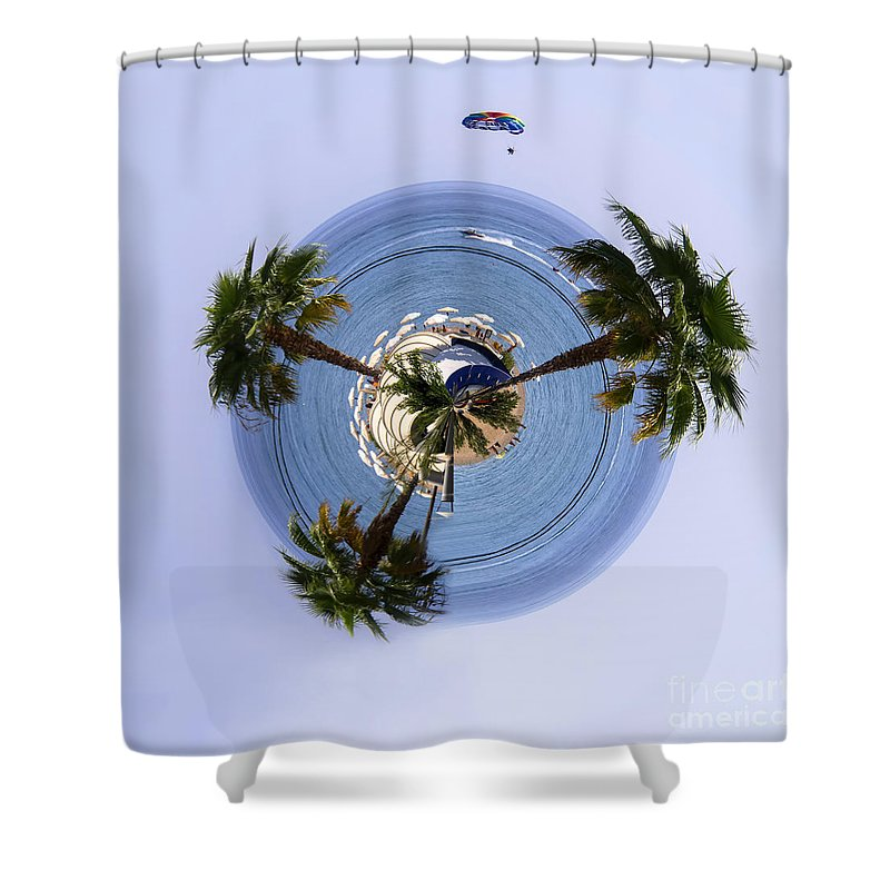Three Shower Curtain featuring the photograph Three Palms by Gillian Singleton