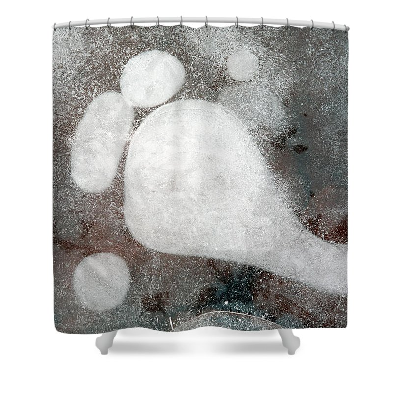 Ice Shower Curtain featuring the photograph Three Toes by Mike Dawson