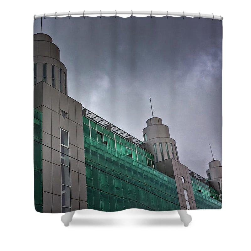 Baltic Countries Shower Curtain featuring the photograph Three Towers In Tallinn by Jukka Heinovirta