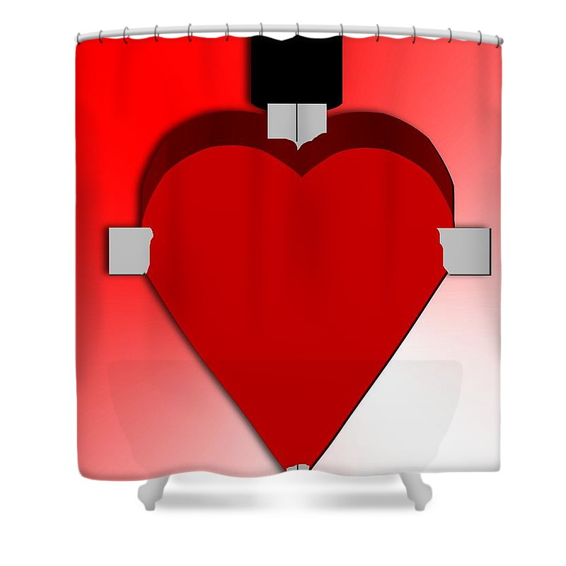 Heart Shower Curtain featuring the painting Through The Heart by Pharris Art