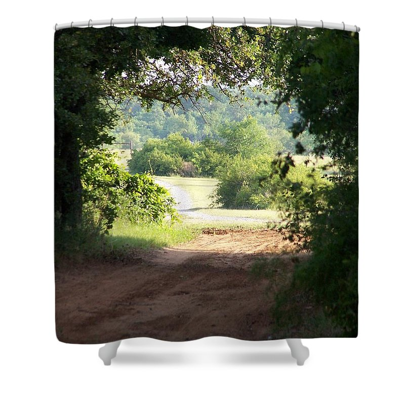 Woods Shower Curtain featuring the photograph Through The Woods by Gale Cochran-Smith