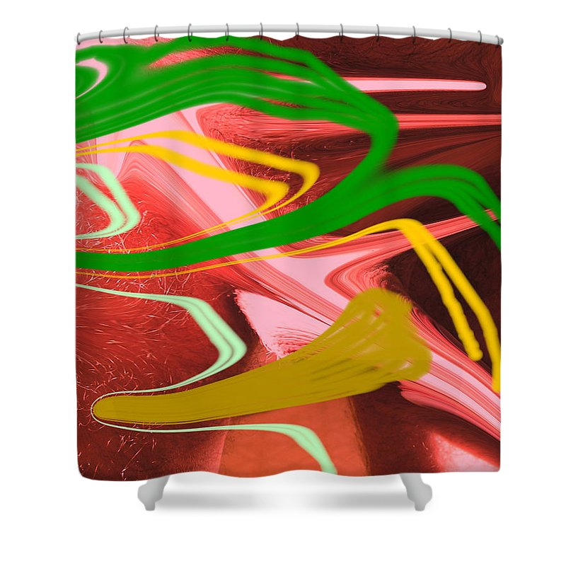 Abstract Shower Curtain featuring the photograph Thrust by Allan Hughes