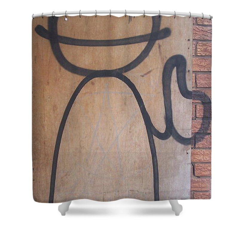 Urban Shower Curtain featuring the painting Thumbs Up by Trevor Desrosiers