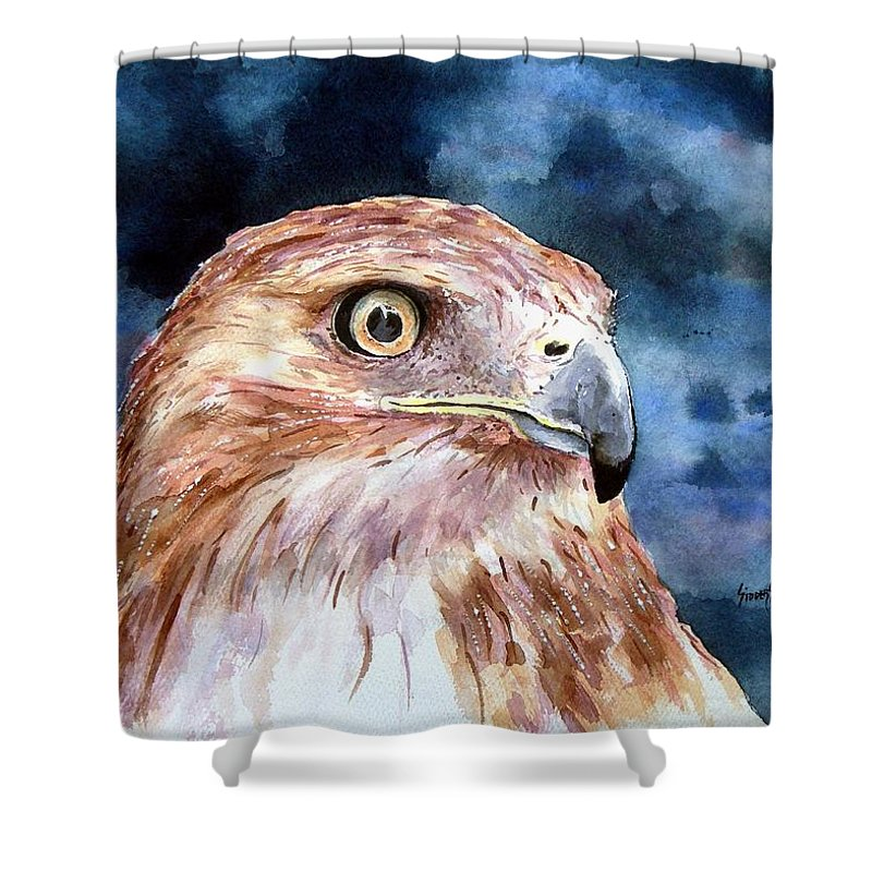 Bird Shower Curtain featuring the painting Thunder by Sam Sidders