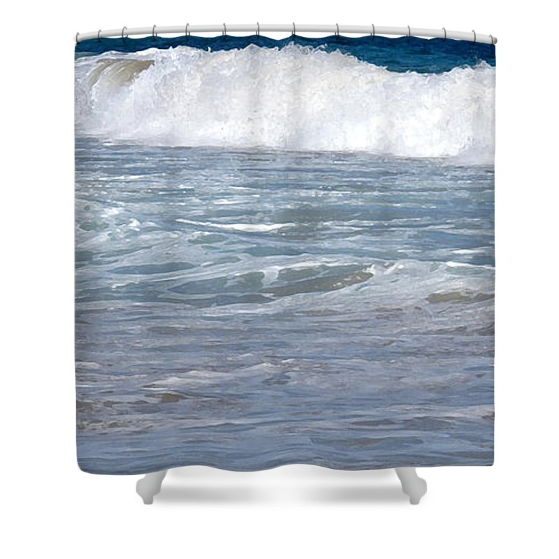 Wave Shower Curtain featuring the photograph Thundering Roar by Ian MacDonald