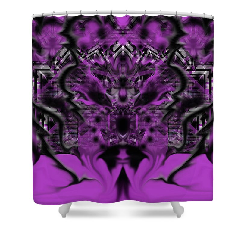 Shower Curtain featuring the digital art Thursday by Subbora Jackson