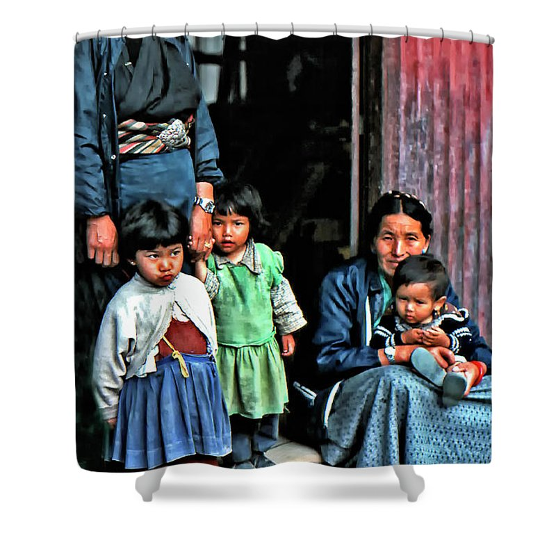 Darjeeling Shower Curtain featuring the photograph Tibetan Refugees by Steve Harrington