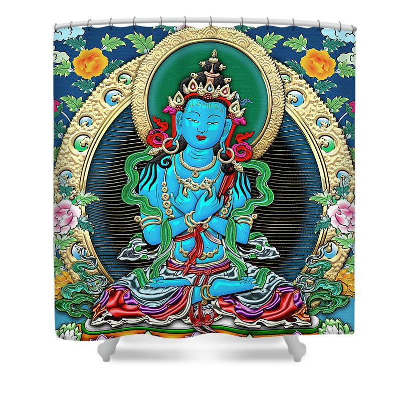 Lovely U0027treasures Of Tibetu0027 Collection By Serge Averbukh Shower Curtain Featuring  The Digital Art Tibetan
