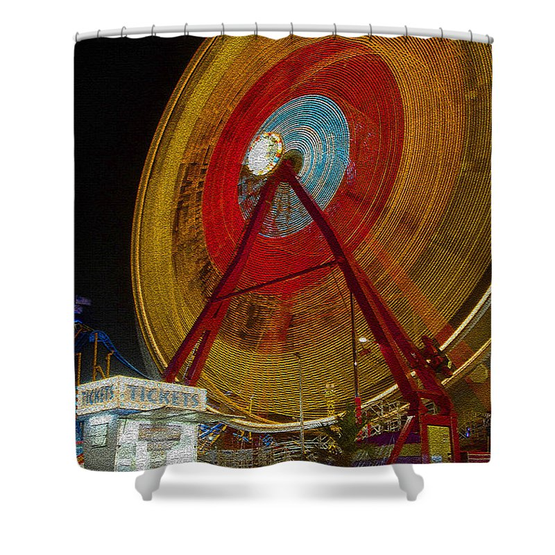 Amusement Ride Shower Curtain featuring the photograph Tickets by David Lee Thompson
