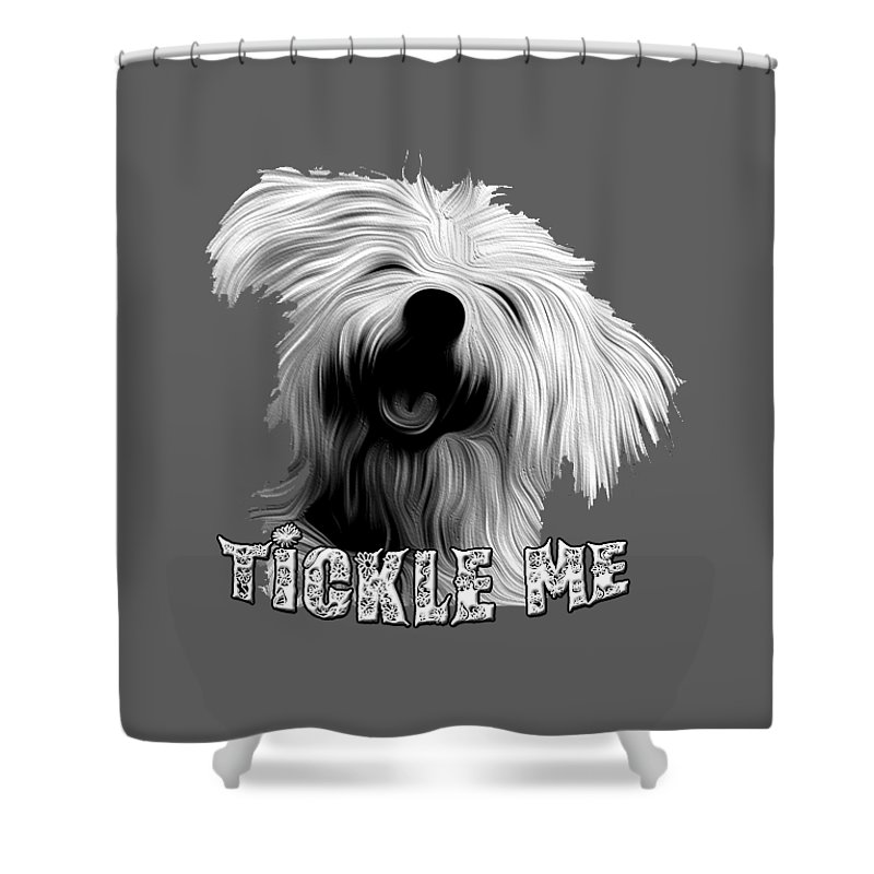 Dogs Shower Curtain featuring the digital art Tickle Me Too by Peter Stevenson