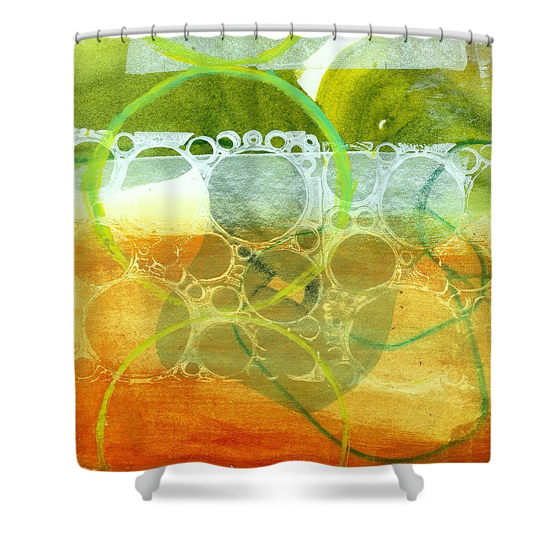 4x4 Shower Curtain featuring the painting Tidal 13 by Jane Davies