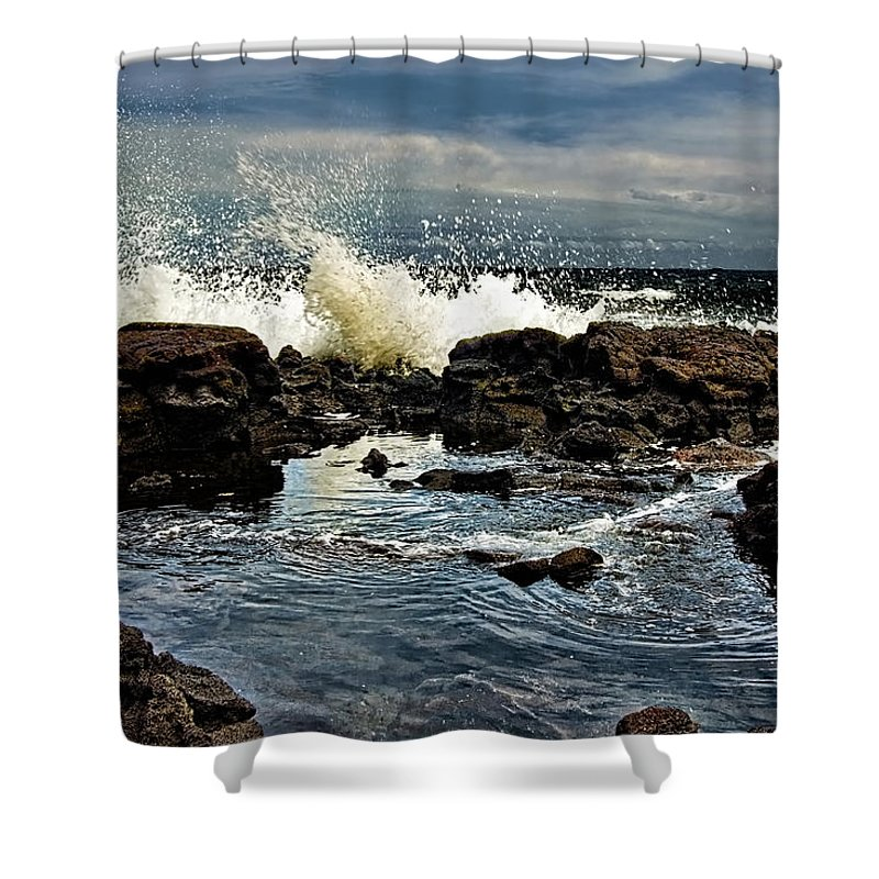 Waves Shower Curtain featuring the photograph Tide Coming In by Christopher Holmes