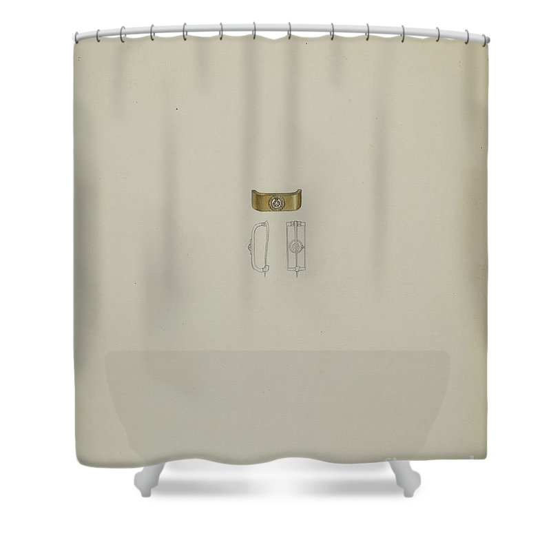 Shower Curtain featuring the drawing Tie Pin by Eugene Barrell