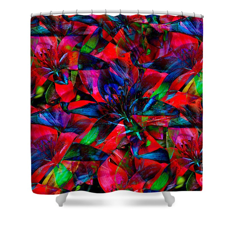 Abstract Art Shower Curtain featuring the photograph Tiger Lily by Donna Bentley