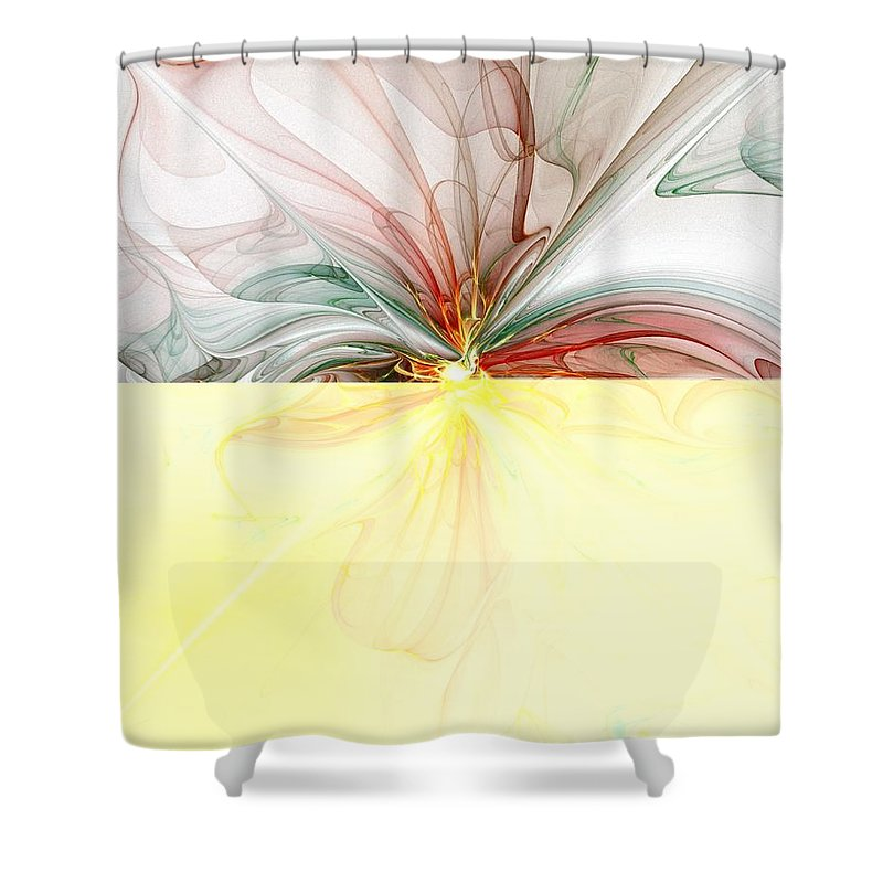 Digital Art Shower Curtain featuring the digital art Tiger Lily by Amanda Moore
