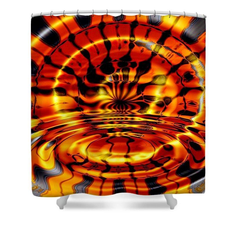 Fractal Shower Curtain featuring the digital art Tiger's Eye by Robert Orinski