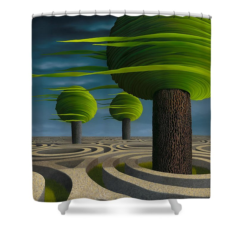Tree Shower Curtain featuring the painting Tilia Arbora by Patricia Van Lubeck