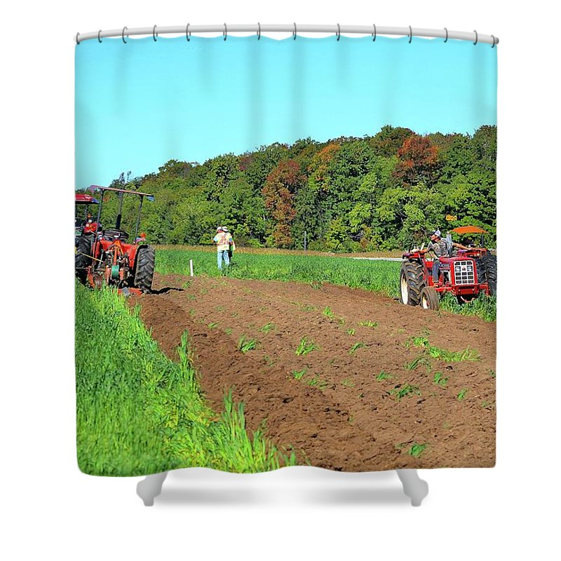 Farm Shower Curtain featuring the photograph Tilled Soil  by Lyle Crump