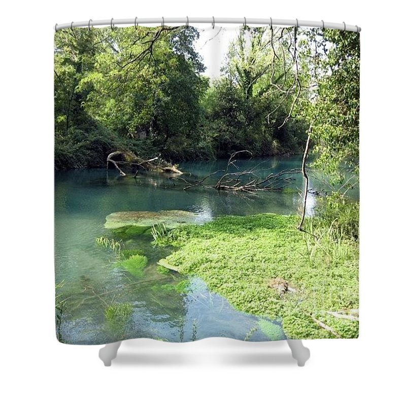 River Shower Curtain featuring the photograph Timava's Spring II by Dragica Micki Fortuna