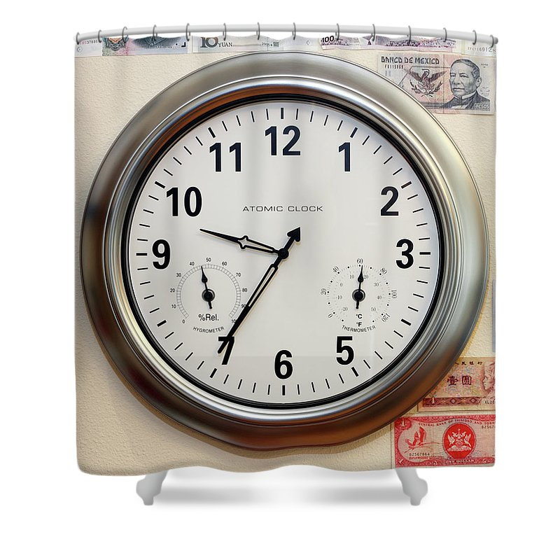 Time Shower Curtain featuring the photograph Time And Money by Lee Serenethos