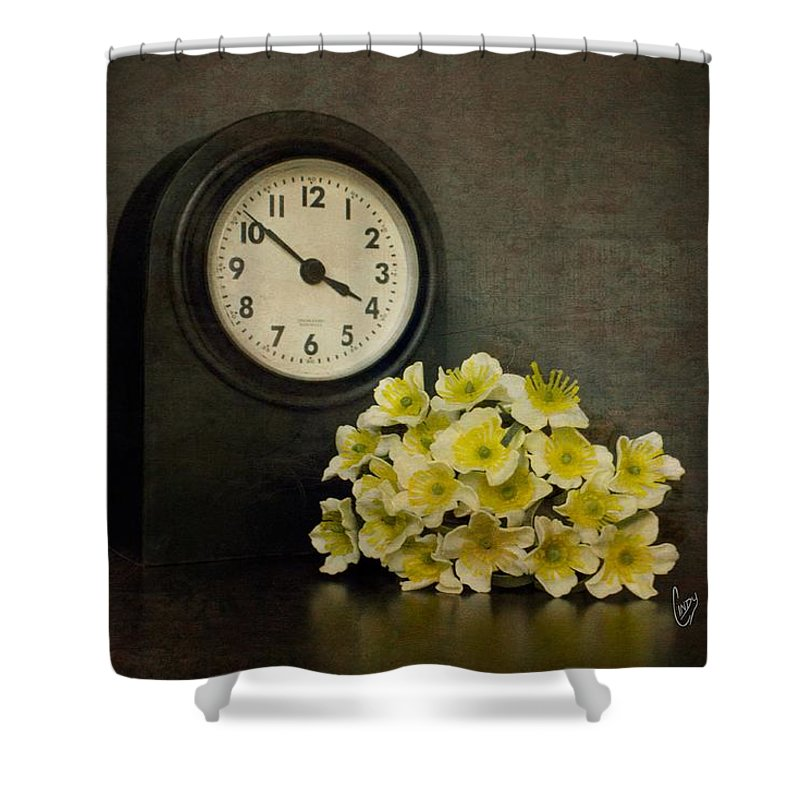 Time Shower Curtain featuring the photograph Time by Cindy Garber Iverson
