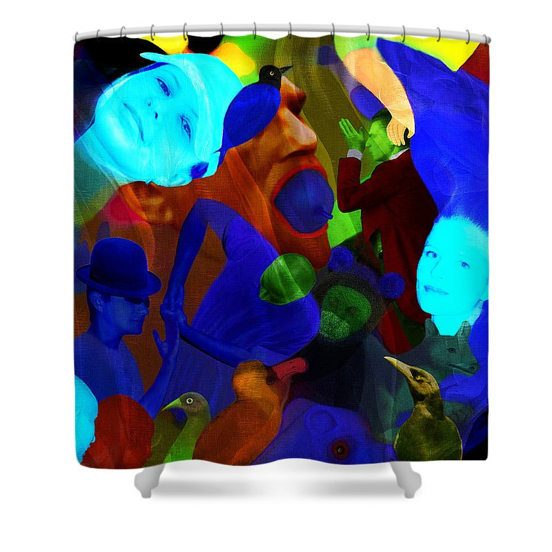 Color Shower Curtain featuring the digital art Time Does Not Stop. by Andrzej Pietal