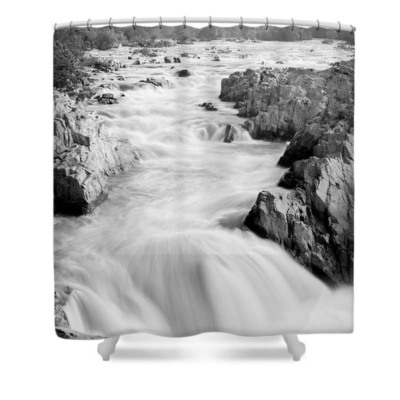 River Shower Curtain featuring the photograph Time by Mitch Cat