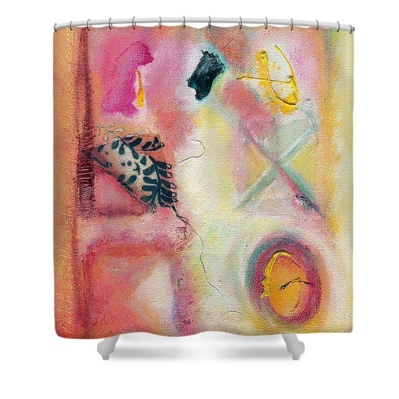 Visual Shower Curtain featuring the painting Time To Play Big Time by Kerryn Madsen-Pietsch